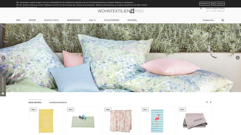 Erfahrungen mit dem Online-Shop wohntextilien4you.de
