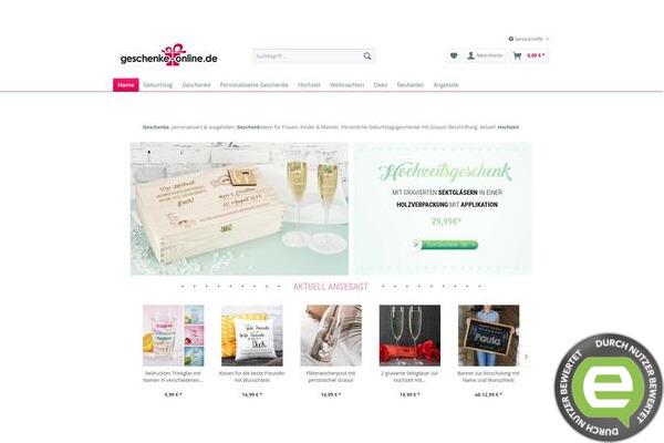 Geschenke online packstation
