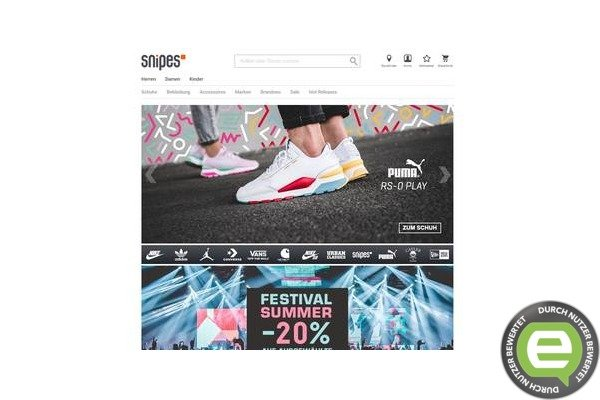 Sneaker, Streetwear und Accessoires bei SNIPES bestellen!